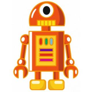 Sticker Enfant Robot Orangé