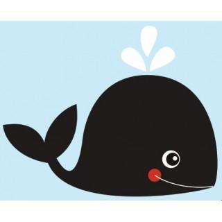Sticker garçon baleine