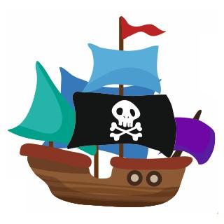Sticker Enfant bateau pirate